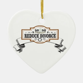 50 50 custody reduce divorce ceramic ornament