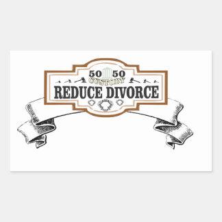 50 50 custody reduce divorce rectangular sticker
