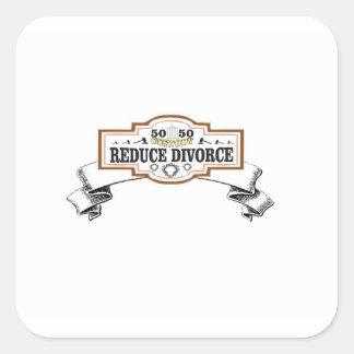 50 50 custody reduce divorce square sticker