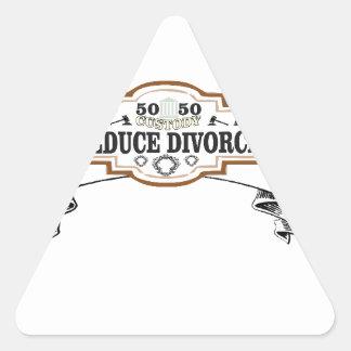 50 50 custody reduce divorce triangle sticker