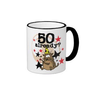 50 Already Birthday Ringer Mug