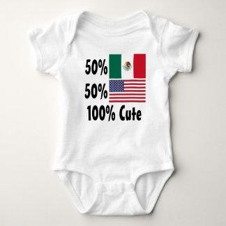 50% American 50% Mexican 100% Cute Baby Bodysuit