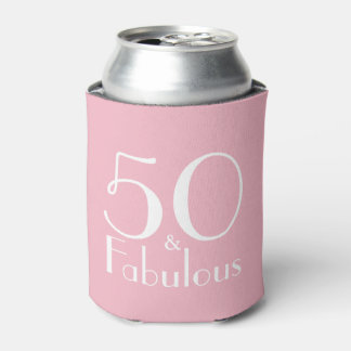 50 and Fabulous 50th Birthday Gifts Can Cooler