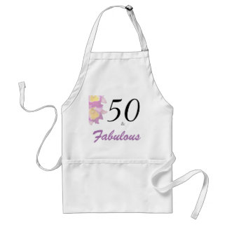 50 and Fabulous 50th Birthday Party Apron