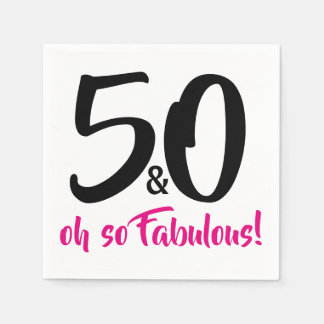 50 and Fabulous 50th Birthday Party Paper Napkins Paper Napkin