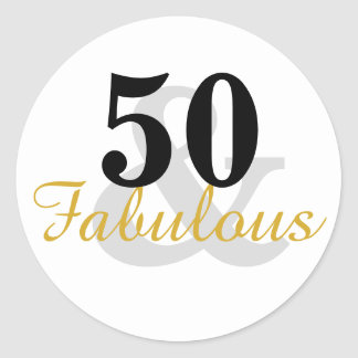 50 and Fabulous 50th Birthday Stickers