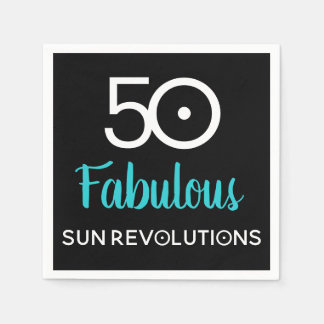 50 and Fabulous Astrology Birthday Paper Napkins Paper Napkin