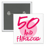 50 And Fabulous Badge