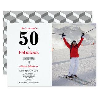 50 and Fabulous Birthday Celebration Invitation