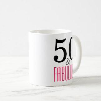 50 and Fabulous Birthday Gift Mug