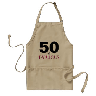 50 and Fabulous Birthday Party Apron