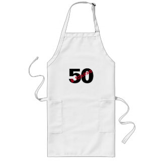 50 and Fabulous Birthday Party chef Long Apron
