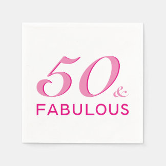 50 and Fabulous Birthday Party Napkins Disposable Serviette