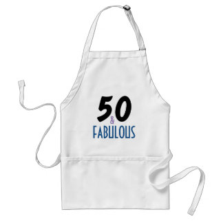 50 and Fabulous Birthday Standard Apron