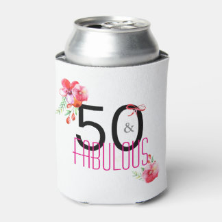 50 and Fabulous Elegant 50th Birthday Party Can Cooler