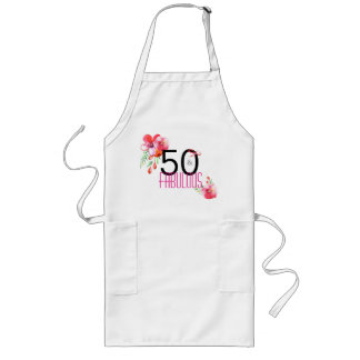 50 and Fabulous Elegant 50th Birthday Party Long Apron