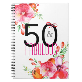 50 and Fabulous Elegant 50th Birthday Party Notebook