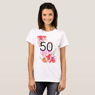 50 and Fabulous Elegant 50th Birthday Party T-Shirt