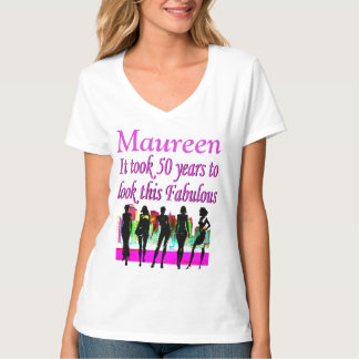 50  AND FABULOUS NEW YORK CITY PERSONALIZED TSHIRT