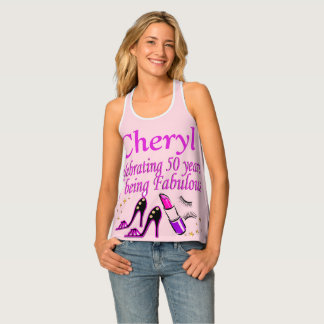 50 AND FABULOUS PERSONALIZED TANK TOP