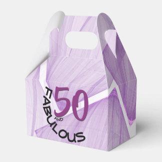 50 and Fabulous   Purple & Black Birthday Theme Favour Box