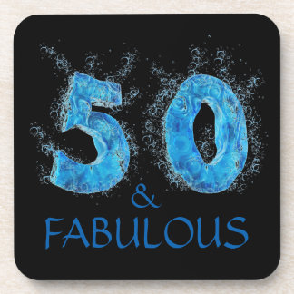 50 and Fabulous Swimmer Swimming 50th Birthday Coaster
