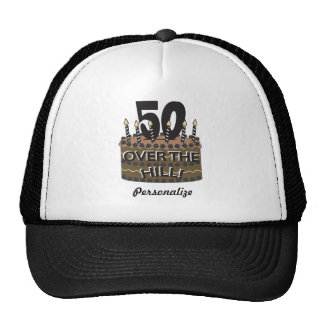 50 and Over the Hill | 50th Birthday | DIY Name Cap