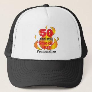 50 and Smokin Hot | 50th Birthday | DIY Name Cap