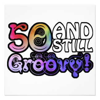 50 And Still Groovy Invitations