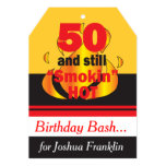 50 and Still Smokin Hot   50th Birthday 13 Cm X 18 Cm Invitation Card