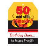 50 and Still Smokin Hot 13 Cm X 18 Cm Invitation Card