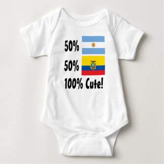 50% Argentinian 50% Ecuadorian 100% Cute Baby Bodysuit