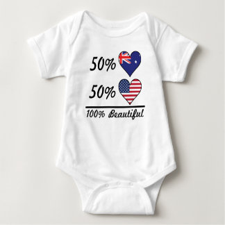 50% Australian 50% American 100% Beautiful Baby Bodysuit