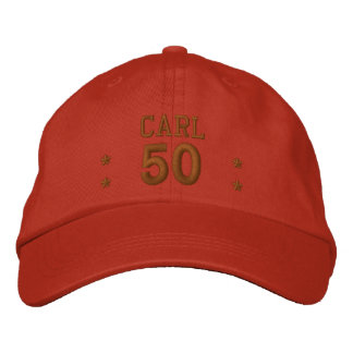 50 Birthday Custom Name COCOA V66C Embroidered Hat