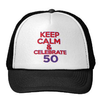 50 birthday design cap
