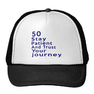 50 Birthday Designs Cap