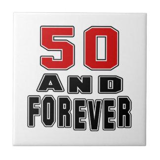 50 birthday designs ceramic tile