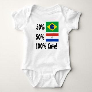 50% Brazilian 50% Parguayan 100% Cute Baby Bodysuit