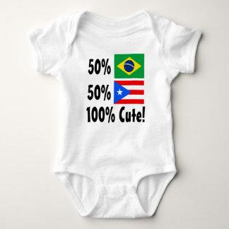 50% Brazilian 50% Puertorican 100% Cute Baby Bodysuit