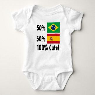 50% Brazilian 50% Spanish 100% Cute Baby Bodysuit