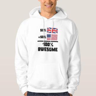50% British 50% American 100% Awesome Hoodie