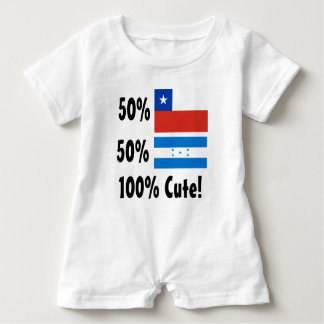 50% Chilean 50% Honduran 100% Cute Baby Bodysuit