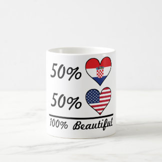 50% Croatian 50% American 100% Beautiful Coffee Mug