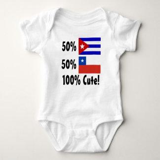 50% Cuban 50% Chilean 100% Cute Baby Bodysuit