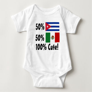 50% Cuban 50% Mexican 100% Cute! Baby Bodysuit