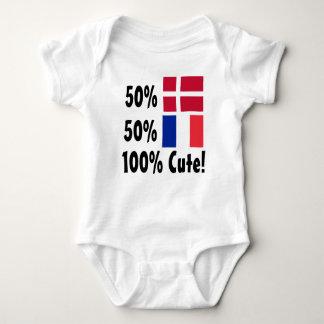 50% Danish 50% French 100% Cute Baby Bodysuit