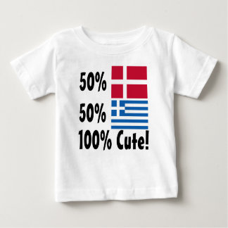 50% Danish 50% Greek 100% Cute Baby T-Shirt