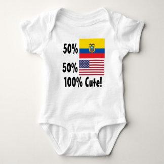 50% Ecuadorian 50% American 100% Cute Baby Bodysuit