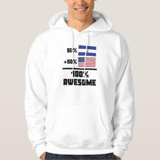 50% El Salvadorian 50% American 100% Awesome Hoodie