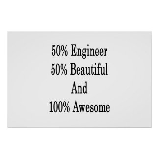 50 Engineer 50 Beautiful And 100 Awesome Poster